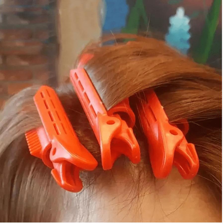 髪の根元から挟めるカーラー